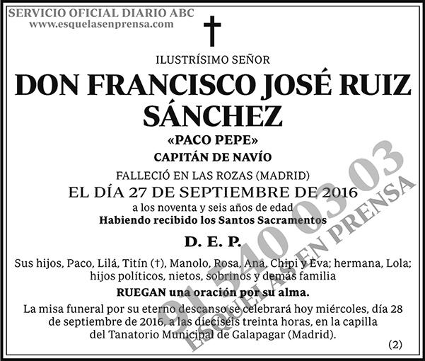 Francisco José Ruiz Sánchez